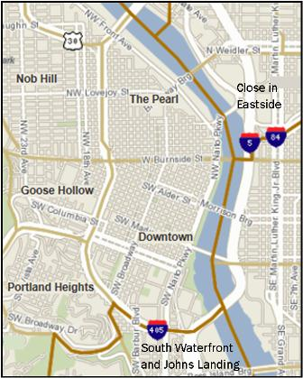 Portland Condos By Neighborhood Map Pearl District NW