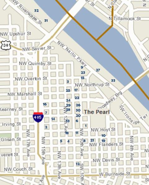 Portalnd Condos Pearl District Condo Builidngs Map